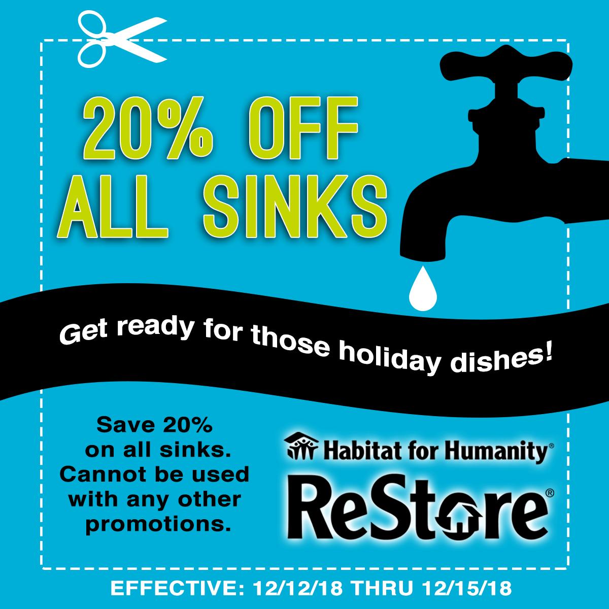 20% Off Sinks – ReStore