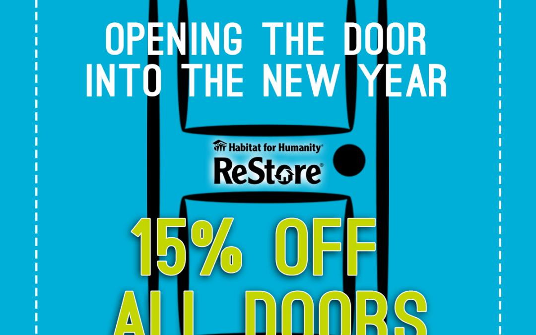 ReStore Sale – 15% Off Doors