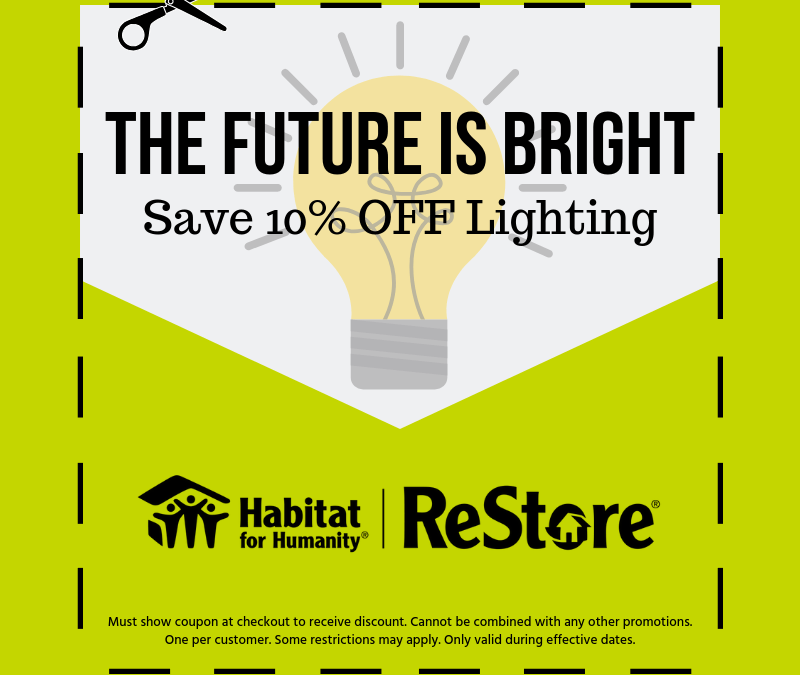 10% Off Lighting – ReStore