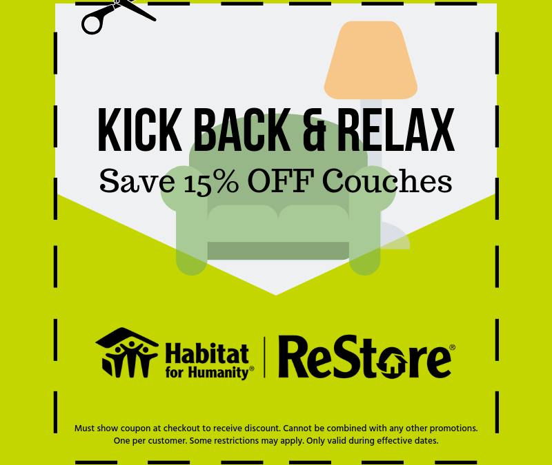 15% off Couches – ReStore