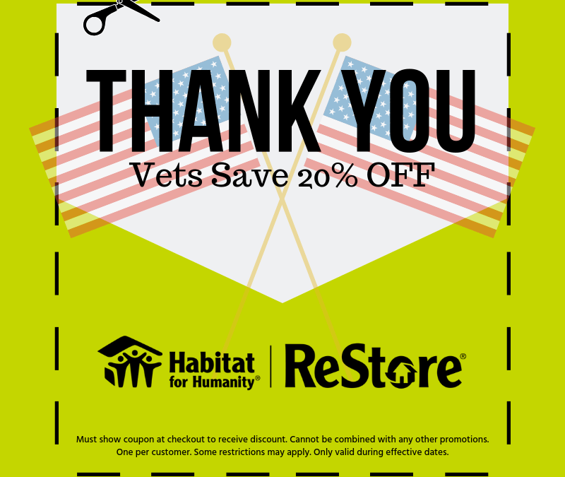 Vets Sale 20% OFF- ReStore