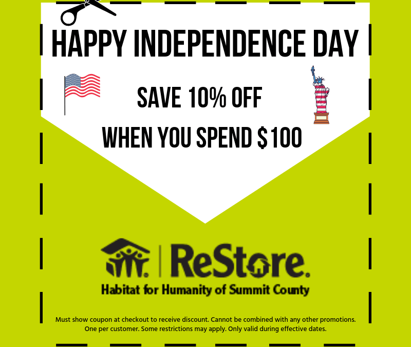 Independence Day Sale – ReStore!