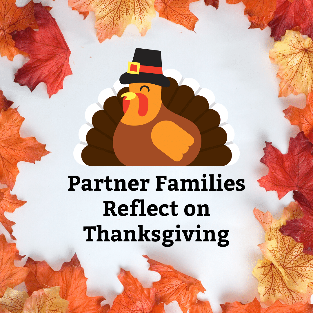 Partner Families Reflect on Thanksgiving