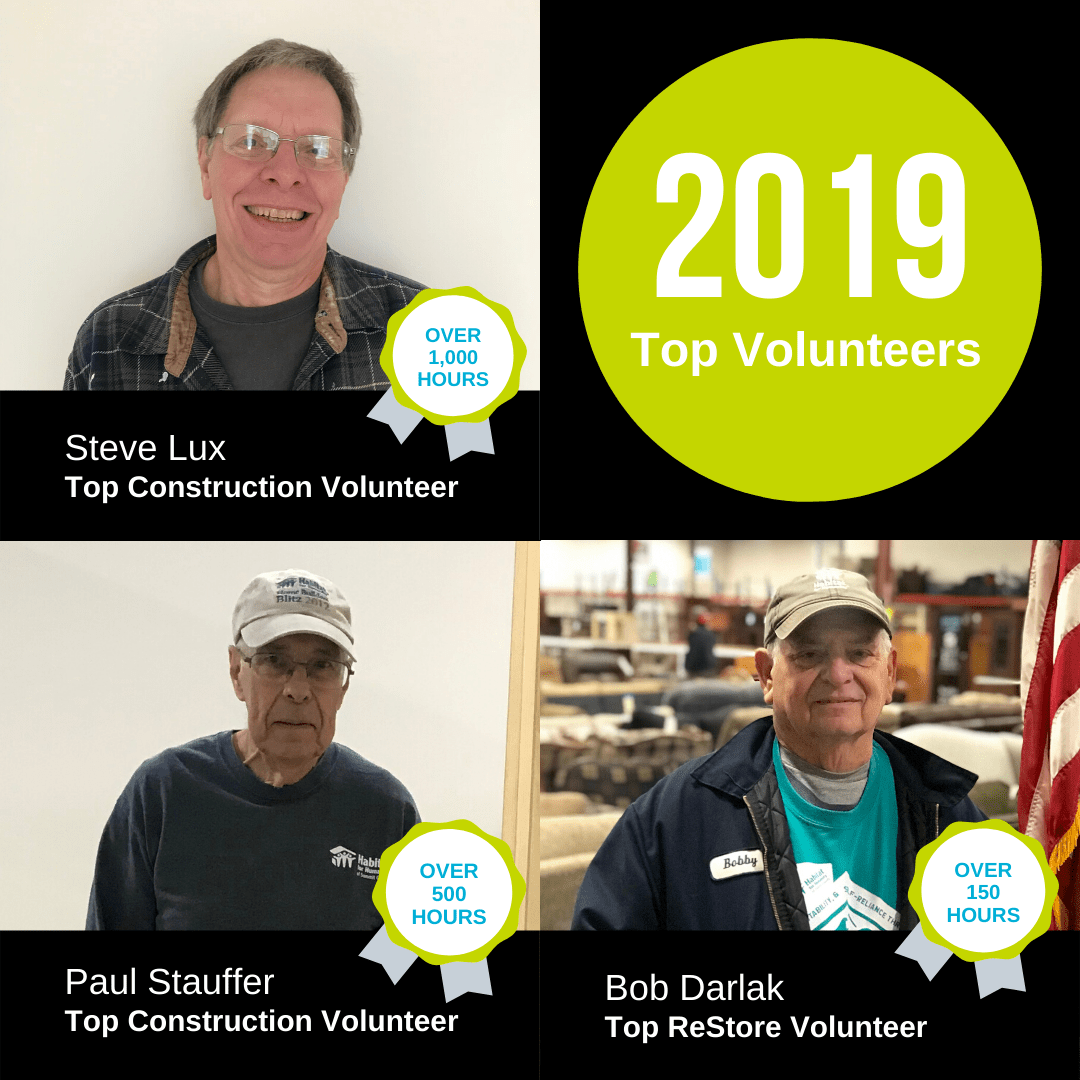 2019 Top Volunteers