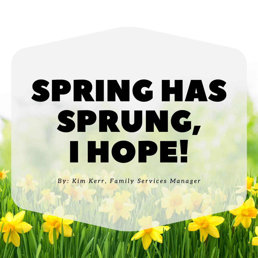 Spring Has Sprung, I Hope